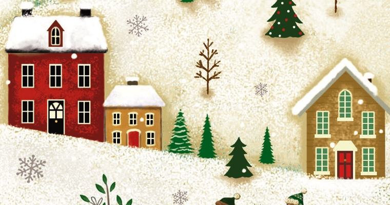 Section of Winter Wonderland charity Christmas cards